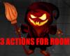 pumpkin halloween room