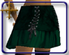 ¤Laced-Up Emerald Skirt