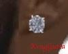 Silver Diamond earings