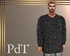 PdT Gray Ribknit Sweater