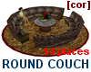 [cor] Round couch 14 pl.