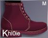 K Maroon fall boots M