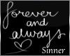 Forever&Always Room Sign