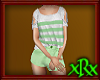 Shorts w/Top Grn Stripe
