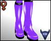 PVC boots violet (f)