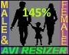 145% Tall