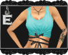 [e] Tie Me Up Tank Teal