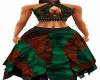 Red Green Boho Chic