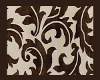 Brown & White Fleur Rug
