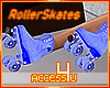 ! Blue Roller Skates