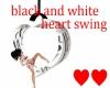 black & white heart swin