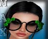Sunglasses Flower Green