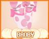 Qiqi Pink Moo Socks