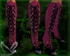 ~D~ pnkblk flame boots