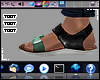 "ᵀ Sandals TEAL"""