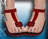 Beachy Sandals Red