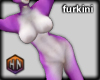 furkini purple dog fox f