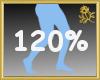 120% Scaler Legs