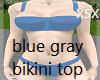 blue gray bikini top
