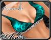 {A}Blue Bikini Top