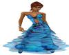 PM1 blue flare dress