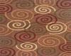 *C* Brown Circles Rug