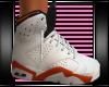 white/orange Jordans F