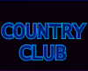 Country Club Neon Sing