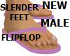MALE SLENDER FLIPFLOP pk