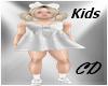 Kids White Dress Elegant