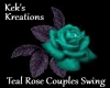 Teal Rose Couples Swing