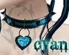 *c* Cyan Heart Collar