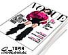 Vogue Magazine Pile.