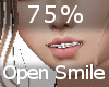 75% Open Mouth Smile F/A