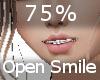 75% Open Smile F