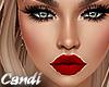 Busty Red lip Med Skin