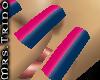 [MrsT] Nails Blue/pink