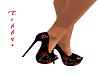 Blk w/ red star heels