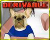 ~R Bulldog Pup Clothed
