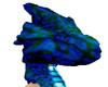 Blueish Dragon Head
