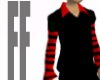 red striped sleeves