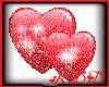 Double Hearts Sticker