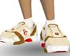 Tan/white sports shoes