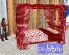 TK-Valen Red Canopy Bed
