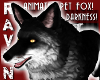 ANIMATED PET DARK FOX!