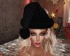 Santa Sparkle Hat Blk