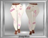 Pink & White Love Jeans
