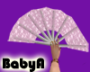 ! BA Pink Lace Fan Left