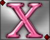 Pink Letter X