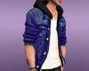 Hoody jacket blue